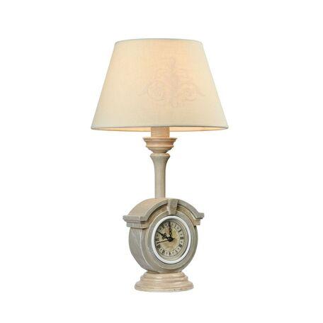 Настольная лампа Maytoni Milea ARM132-TL-01-GR, 1xE14x40W, бежевый, серый, белый, металл, текстиль