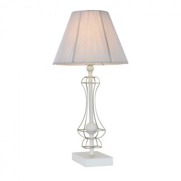 Настольная лампа Maytoni Frame ARM709-TL-01-W, 1xE14x40W, белый, матовое золото, металл, текстиль
