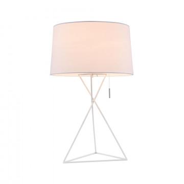 Настольная лампа Maytoni Modern Gaudi MOD183-TL-01-W, 1xE27x60W, белый, металл, текстиль