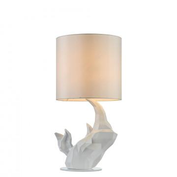Настольная лампа Maytoni Nashorn MOD470-TL-01-W, 1xE14x40W, белый, пластик, текстиль