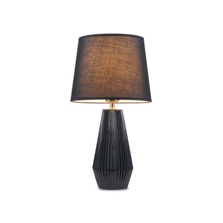 Настольная лампа Maytoni Calvin Table Z181-TL-01-B, 1xE27x60W, черный, пластик, текстиль