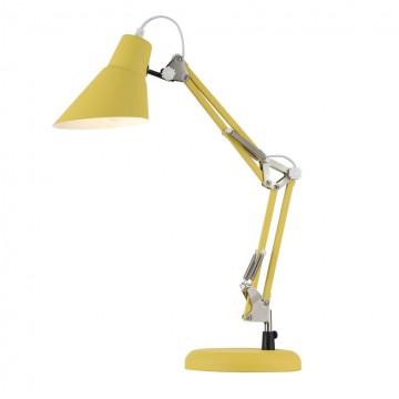 Настольная лампа Maytoni Zeppo 136 Z136-TL-01-YL, 1xE27x40W, желтый, металл