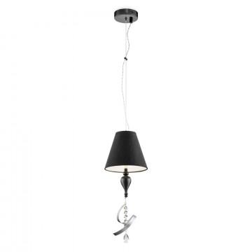 Подвесной светильник Maytoni Classic Elegant Intreccio ARM010-22-R, 1xE14x40W, черный, прозрачный, металл, текстиль, хрусталь