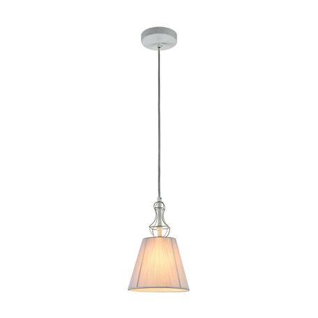 Подвесной светильник Maytoni Frame ARM709-PL-01-W, 1xE14x40W, белый, матовое золото, металл, текстиль