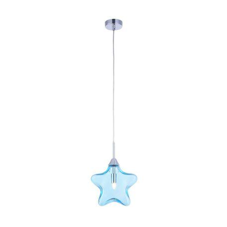 Подвесной светильник Maytoni Star MOD242-PL-01-BL, 1xG9x28W, хром, голубой, металл, стекло