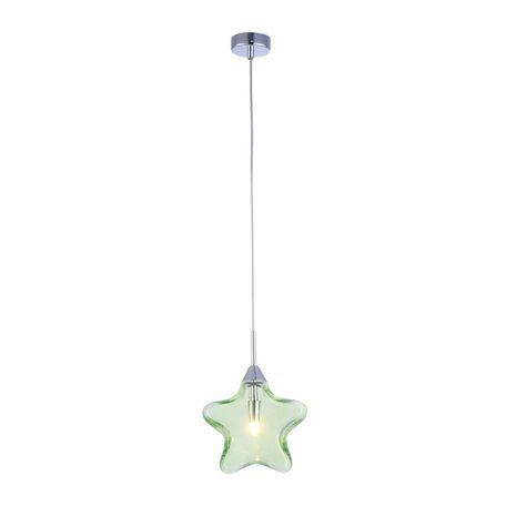 Подвесной светильник Maytoni Star MOD242-PL-01-GN, 1xG9x28W, хром, зеленый, металл, стекло - миниатюра 1