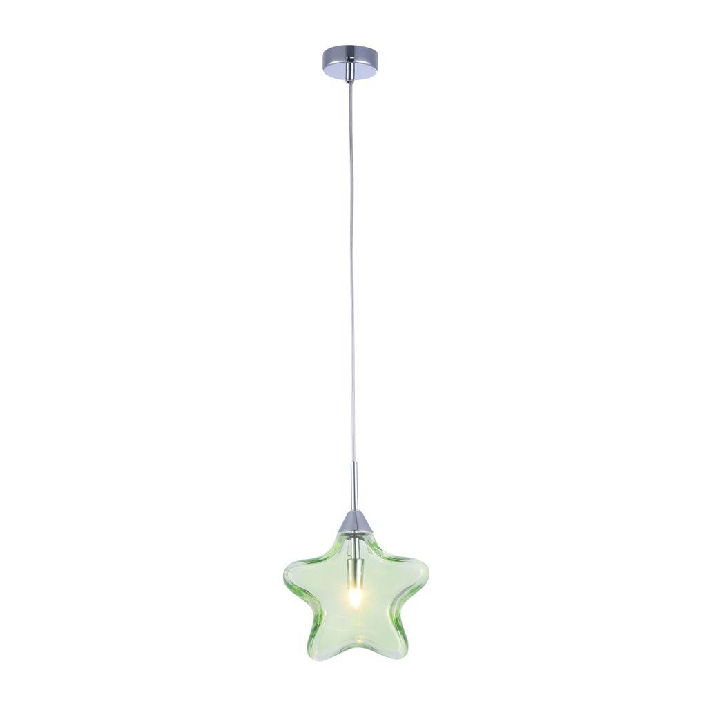 Подвесной светильник Maytoni Star MOD242-PL-01-GN, 1xG9x28W, хром, зеленый, металл, стекло - фото 1
