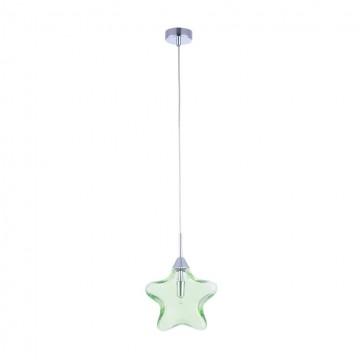 Подвесной светильник Maytoni Star MOD242-PL-01-GN, 1xG9x28W, хром, зеленый, металл, стекло - миниатюра 2