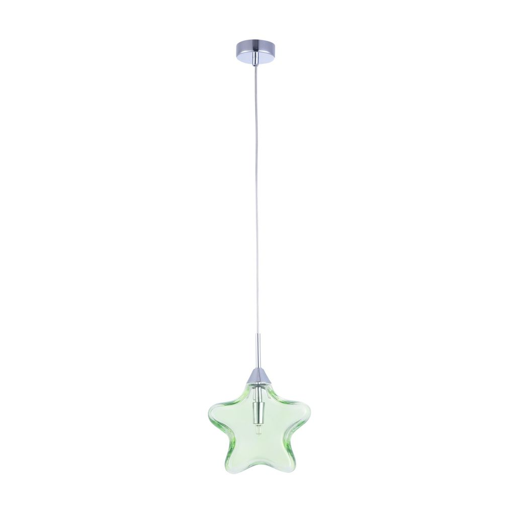 Подвесной светильник Maytoni Star MOD242-PL-01-GN, 1xG9x28W, хром, зеленый, металл, стекло - фото 2
