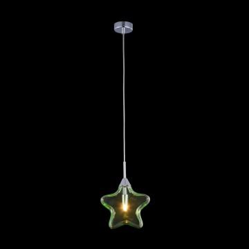 Подвесной светильник Maytoni Star MOD242-PL-01-GN, 1xG9x28W, хром, зеленый, металл, стекло - миниатюра 3