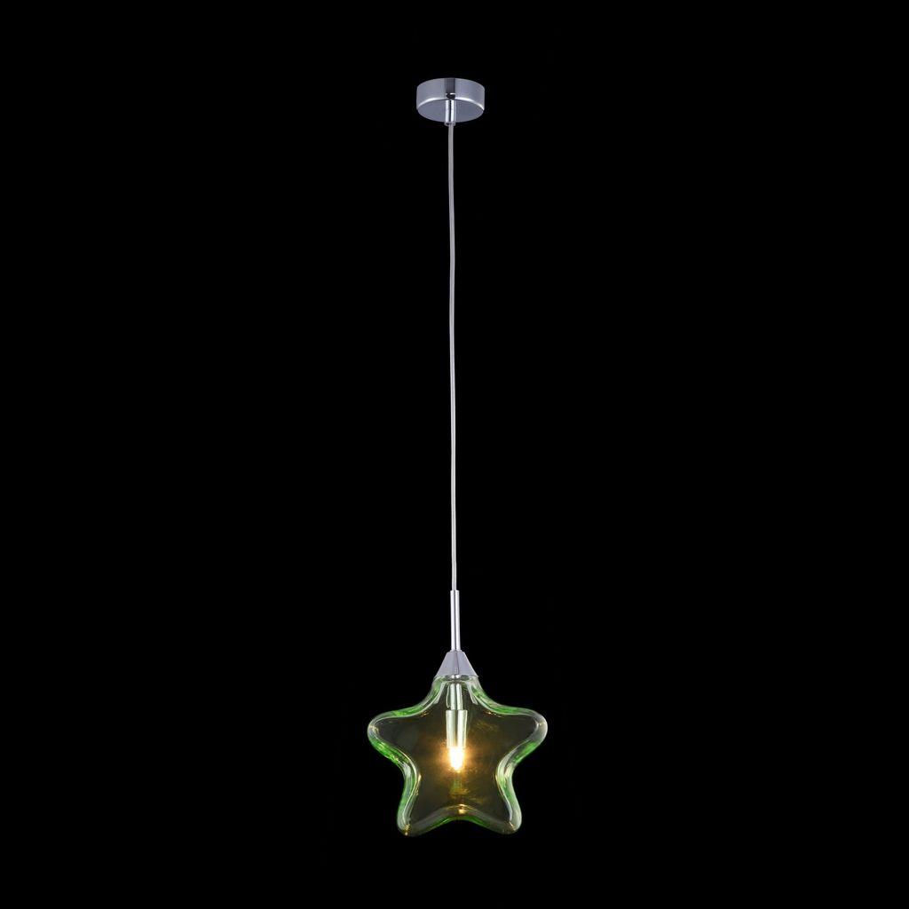 Подвесной светильник Maytoni Star MOD242-PL-01-GN, 1xG9x28W, хром, зеленый, металл, стекло - фото 3