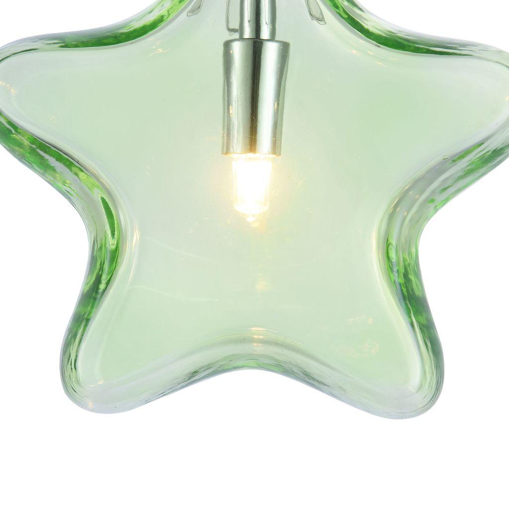 Подвесной светильник Maytoni Star MOD242-PL-01-GN, 1xG9x28W, хром, зеленый, металл, стекло - фото 8