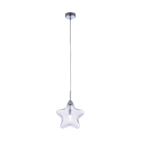 Подвесной светильник Maytoni Star MOD242-PL-01-TR, 1xG9x28W, хром, прозрачный, металл, стекло