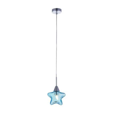 Подвесной светильник Maytoni Star MOD246-PL-01-BL, 1xG9x28W, хром, голубой, металл, стекло