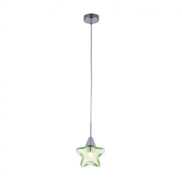 Подвесной светильник Maytoni Star MOD246-PL-01-GN, 1xG9x28W, хром, зеленый, металл, стекло