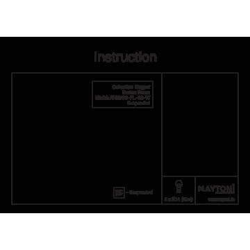 Схема с размерами Maytoni ARM709-PL-08-W