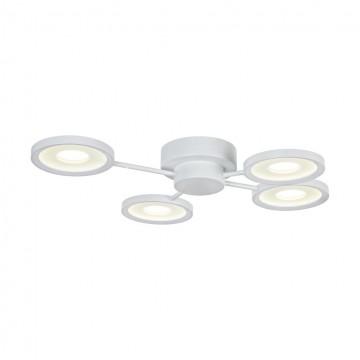 Потолочная светодиодная люстра Maytoni Aprilia MOD809-CL-04-48-W, LED 48W 4200K (холодный) 4600lm, белый, металл