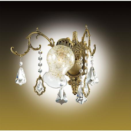 Бра Odeon Light Gardia 2879/1W, 1xE14x60W, бронза, прозрачный, янтарь, металл, стекло, хрусталь