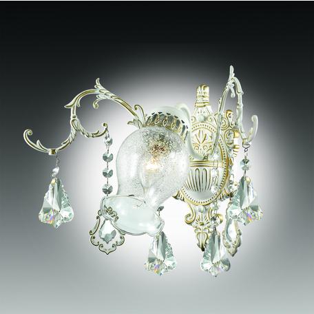 Бра Odeon Light Gardia 2880/1W, 1xE14x60W, белый, золото, прозрачный, металл, стекло, хрусталь - миниатюра 1