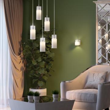 Настенный светильник Odeon Light Ottavia 2749/1W, 1xG9x53W, хром, белый, металл, стекло - миниатюра 2