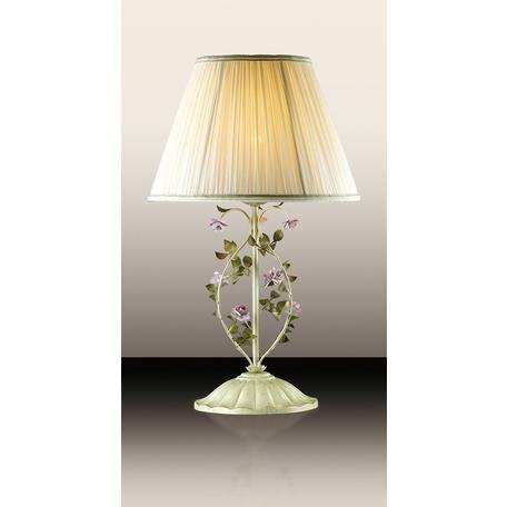 Настольная лампа Odeon Light Country Tender 2796/1T, 1xE27x60W, бежевый, зеленый, розовый, разноцветный, белый, металл, текстиль