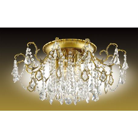 Потолочная люстра Odeon Light Gardia 2879/6C, 6xE14x60W, бронза, прозрачный, металл, хрусталь