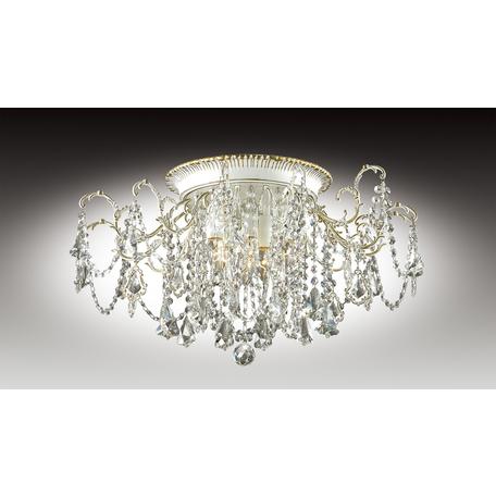 Потолочная люстра Odeon Light Gardia 2880/4C, 4xE14x60W, белый, золото, прозрачный, металл, хрусталь