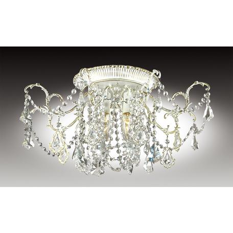 Потолочная люстра Odeon Light Gardia 2880/6C, 6xE14x60W, белый, золото, прозрачный, металл, хрусталь