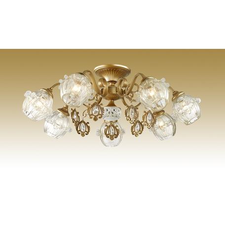 Потолочная люстра Odeon Light Folla 2887/7C, 7xE14x60W, бронза, прозрачный, металл, стекло, хрусталь