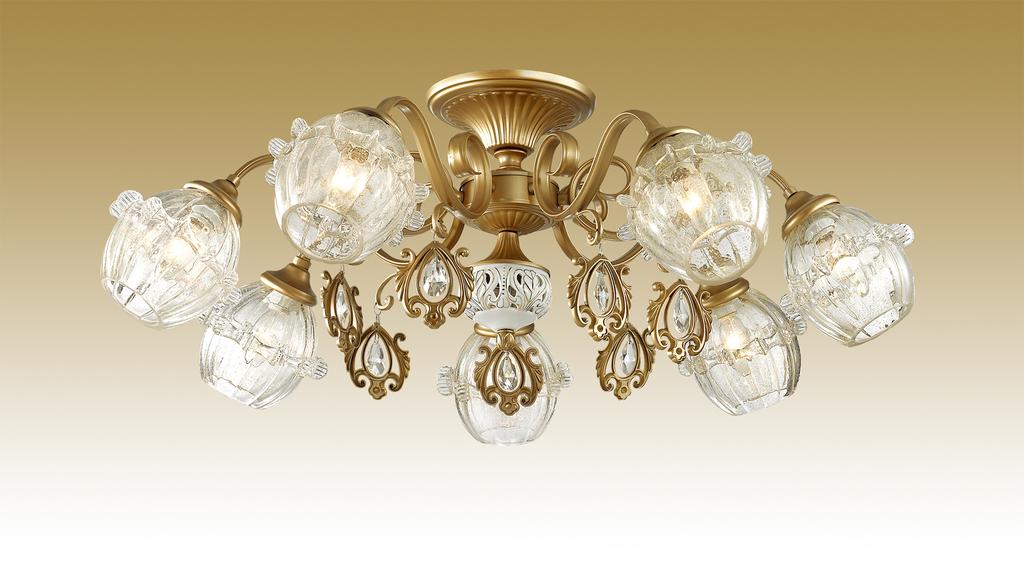 Потолочная люстра Odeon Light Folla 2887/7C, 7xE14x60W, бронза, прозрачный, металл, стекло, хрусталь - фото 1