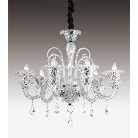 Подвесная люстра Odeon Light Abela 2791/6, 6xE14x40W, прозрачный, хром, металл, стекло, хрусталь - миниатюра 1
