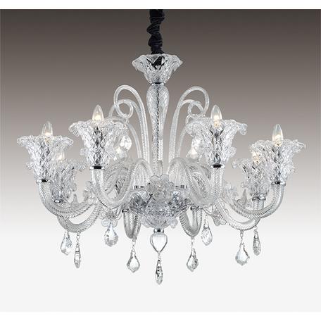Подвесная люстра Odeon Light Abela 2791/8, 8xE14x40W, прозрачный, хром, металл, стекло, хрусталь