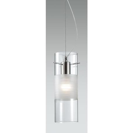 Подвесной светильник Odeon Light Marza 2738/1, 1xE27x60W, хром, дымчатый, прозрачный, металл, стекло