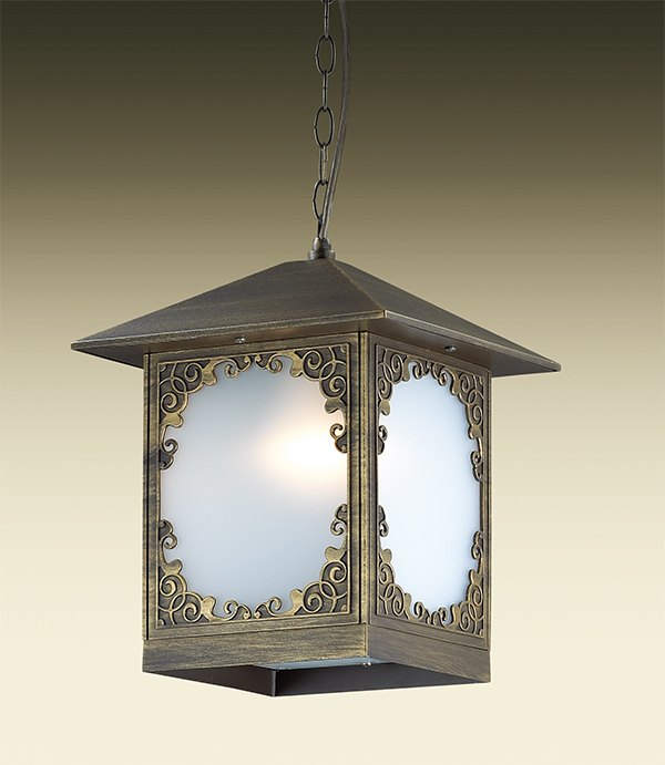 Подвесной светильник Odeon Light Visma 2747/1, IP44, 1xE27x60W, коричневый, белый, металл, пластик - фото 1