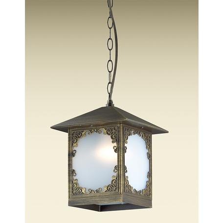 Подвесной светильник Odeon Light Visma 2747/1C, IP44, 1xE27x60W, коричневый, белый, металл, пластик