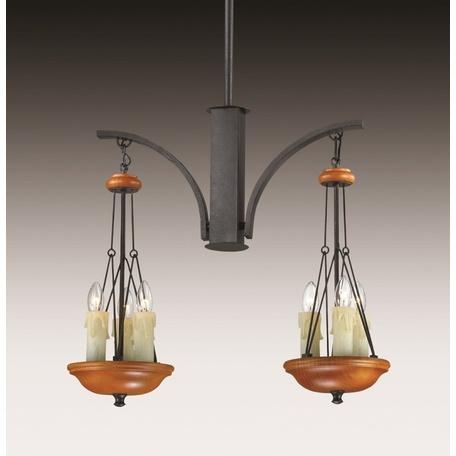 Подвесной светильник Odeon Light Efa 2768/6, 6xE14x40W, белый, коричневый, черный, дерево, металл