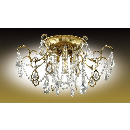 Потолочная люстра Odeon Light Gardia 2879/4C, 4xE14x60W, бронза, прозрачный, металл, хрусталь