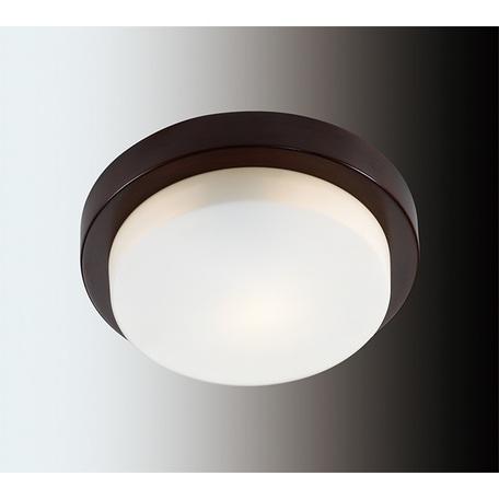 Потолочный светильник Odeon Light Drops Holger 2744/1C, IP44, 1xE14x40W, венге, белый, металл, стекло