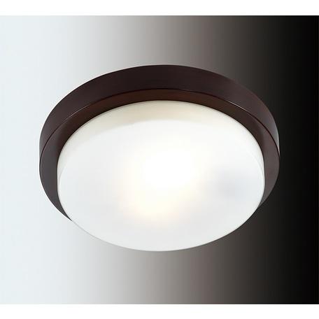 Потолочный светильник Odeon Light Holger 2744/2C, IP44, 2xE14x40W, венге, белый, металл, стекло