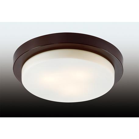 Потолочный светильник Odeon Light Holger 2744/3C, IP44, 3xE14x40W, венге, белый, металл, стекло