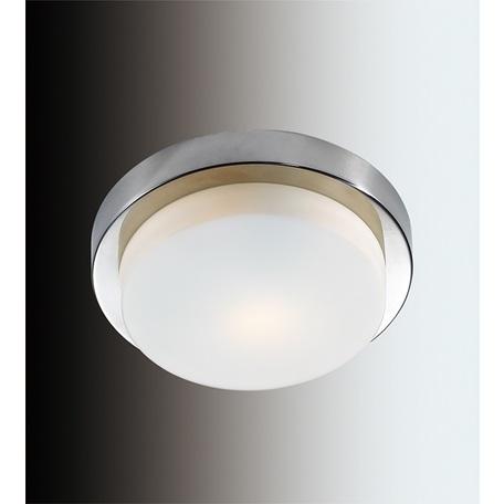 Потолочный светильник Odeon Light Drops Holger 2746/1C, IP44, 1xE14x40W, хром, белый, металл, стекло