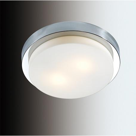 Потолочный светильник Odeon Light Holger 2746/2C, IP44, 2xE14x40W, хром, белый, металл, стекло