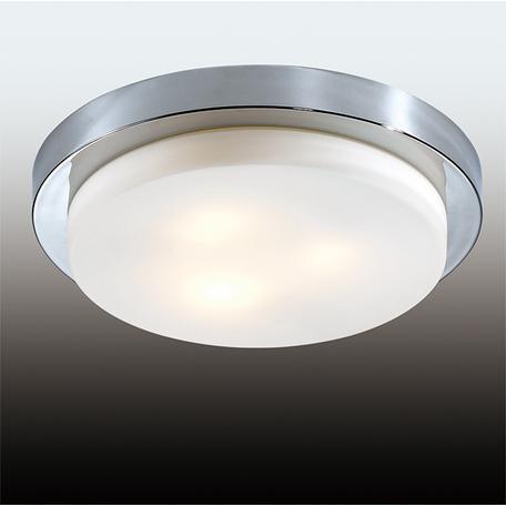 Потолочный светильник Odeon Light Drops Holger 2746/3C, IP44, 3xE14x40W, хром, белый, металл, стекло