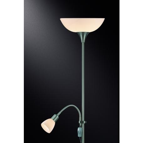 Торшер Odeon Light Standing Trend 2711/F, 1xE14x40W +  1xE27x100W, никель, белый, металл, пластик