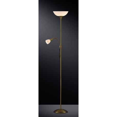 Торшер Odeon Light Standing Trend 2712/F, 1xE14x40W +  1xE27x100W, золото, белый, металл, пластик