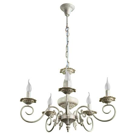 Arte Lamp Tilly A5333LM-5WG, 5xE14x40W, белый с золотой патиной, металл, керамика - миниатюра 1