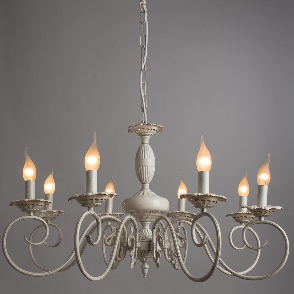 Arte Lamp Tilly A5333LM-8WG, 8xE14x40W, белый с золотой патиной, металл, керамика - фото 2