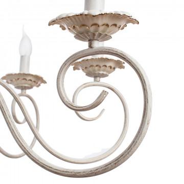 Arte Lamp Tilly A5333LM-8WG, 8xE14x40W, белый с золотой патиной, металл, керамика - миниатюра 3