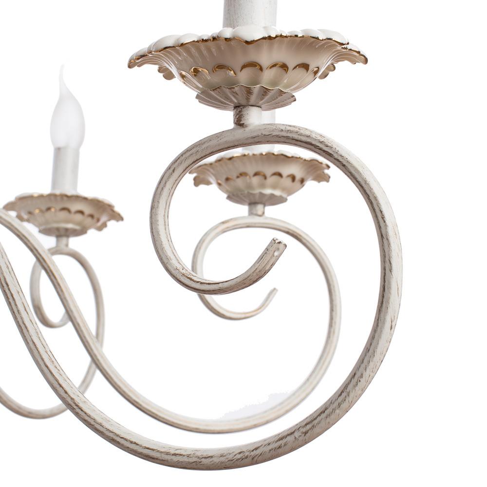 Arte Lamp Tilly A5333LM-8WG, 8xE14x40W, белый с золотой патиной, металл, керамика - фото 3