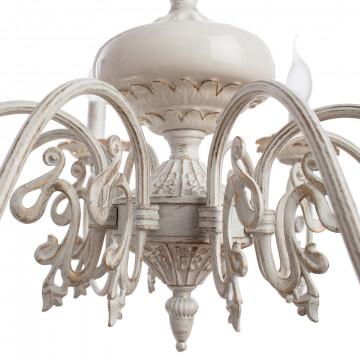 Arte Lamp Tilly A5333LM-8WG, 8xE14x40W, белый с золотой патиной, металл, керамика - миниатюра 4